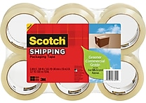 Scotch® Greener Commercial-Grade Shipping Tape, 1.88' x 49.6 Yards, 6/Pack