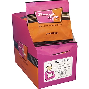 Donut Shop Classics Donut Shop Coffee Pods, Regular, 20 Pods/Box