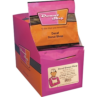 Donut Shop Classics Donut Shop Coffee Pods, Decaffeinated, 20 Pods/Box