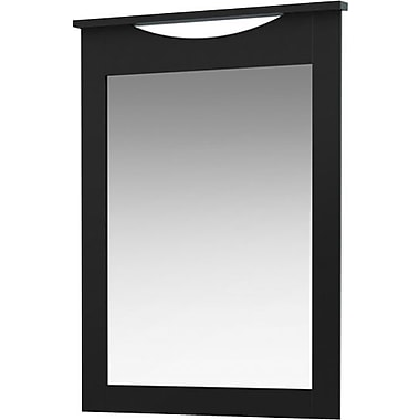 South Shore - Miroir pour commode de la collection City Life, fini noir