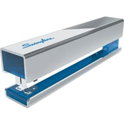 Swingline Full Strip Metal Fashion Stapler, Fastening Capacity 20 Sheets of 20 lb. Paper, Chrome/Blue Accent