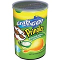 Pringles Grab and Go Potato Crisps, Sour Cream, 12 Cans/Box
