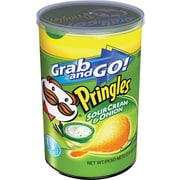 Pringles® Grab and Go Potato Crisps, Sour Cream, 12 Cans/Box