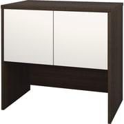 Bestar Contempo 2-Door Cabinet, Tuxedo-Grey and Sandstone
