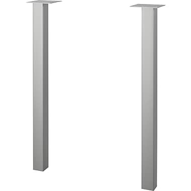 Bestar Contempo Metal Legs, Silver, 2/Pack
