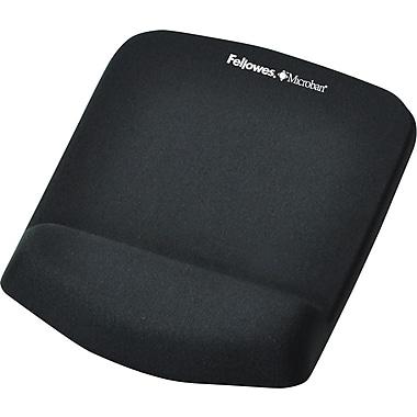 Fellowes® Plush Touch Mousepad Wrist Rest, Black
