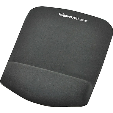 Fellowes® – Tapis de souris repose-poignets Plush Touch, graphite