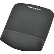 Fellowes® Plush Touch Mousepad Wrist Rest, Graphite