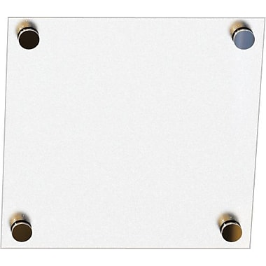 Best-Rite Enlighten Glass Dry-Erase Board, Frosted Pearl, 1' x 1'