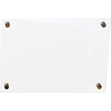 Best-Rite Enlighten Glass Dry-Erase Board, Frosted Pearl, 1.5' x 2'