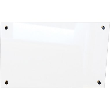 Best-Rite Enlighten Glass Dry-Erase Board, Frosted Pearl, 2' x 3'