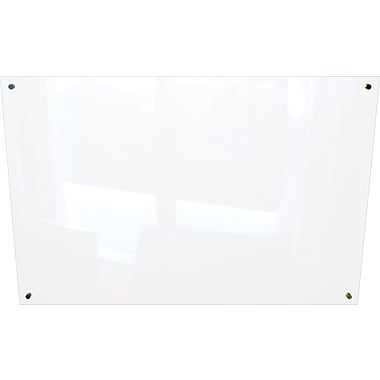 Best-Rite Enlighten Glass Dry-Erase Board, Frosted Pearl, 4' x 6'