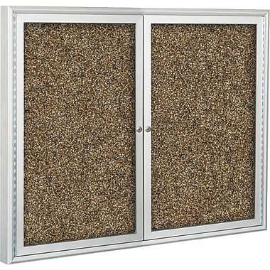Best-Rite Enclosed Rubber-Tak Bulletin Board, Aluminum Frame, 5' x 3'