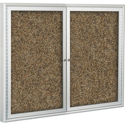 Best-Rite Enclosed Rubber-Tak Bulletin Board, Aluminum Frame, 4' x 3'