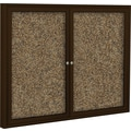 Best-Rite Enclosed Rubber Tak Bulletin Board  with Coffee Frame