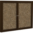 Best-Rite Enclosed Rubber Tak Bulletin Board, Coffee Finish Frame, 5' x 3'