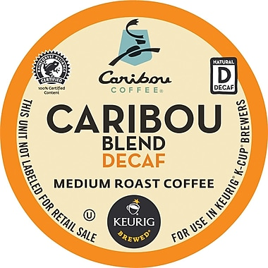 Keurig® K-Cup® Caribou Coffee® Caribou Blend Coffee, Decaf, 24 Pack