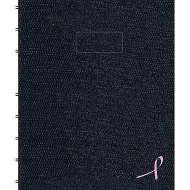 Blueline® – Cahier de notes NotePro au ruban rose à couverture rigide, 9 1/4 po x 7 1/4 po, noir, 150 pages