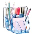 CEP 8 Compartment Desktop Organizer, Ice Blue