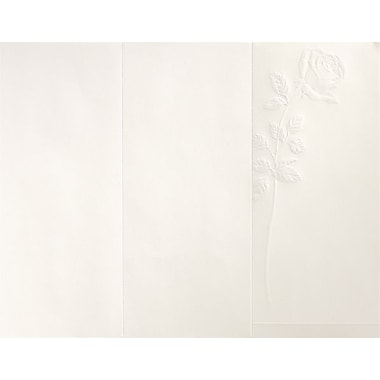 Great Papers­­® Embossed Rose Ivory Program