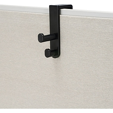 Safco® Over the Panel Double Hook, Black
