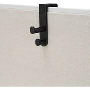 Safco® - Crochet double sur le panneau, noir