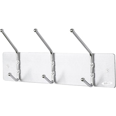 Safco® Costumers, Wall Mounted, 3-Hooks, Chrome