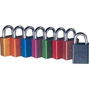 American Lock® Safety Rectangular Padlocks, 5 Pin, Aluminum, Green, Keyed Different