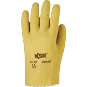 Ansell® KSR® Coated Gloves, Vinyl, Slip-On Cuff, X-Large Size, 12 Pairs