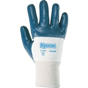 Ansell® Hycron® Coated Gloves, Nitrile, Knit-Wrist Cuff, X-Large Size, Blue, 12 Pairs