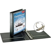 "Cardinal 1 1/2"" ExpressLoad ClearView D-Ring Binder, Black"