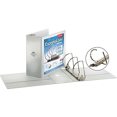 5in. Cardinal ExpressLoad ClearVue D-Ring Binders, White