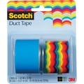 Scotch® Brand Duct Tape, Roy-G-Biv/ Sea Blue, 2/Pack, 1.42in.x 5 Yards