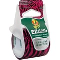 "Duck EZ Start Fashion Packaging Tape, Pink Zebra, 1.88"" x 15 yd"