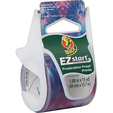 """Duck EZ Start Fashion Packaging Tape, Tie Dye, 1.88"""" x 15 yd"""