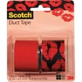 Scotch® Brand Duct Tape, Pucker up/ Cherry Red, 2/Pack, 1.42in.x 5 Yards