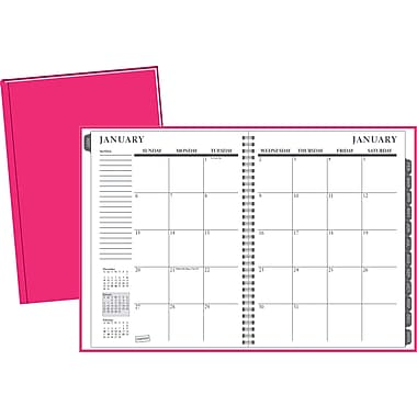 2014 Staples®  Monthly Planner, 8in. x 11in.