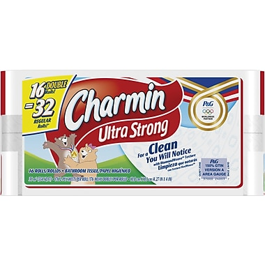 Charmin Ultra Strong Bath Tissue Rolls, 2-Ply, 16 Rolls/Case