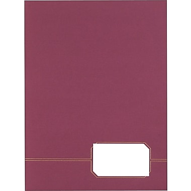 Oxford® Monogram Series Twin-Pocket Portfolio, Burgundy, 4/Pack