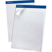 "Ampad® Recycled Notepad, 8 1/2"" x 11 3/4"", Wide Ruled, White, 50% Recycled, 50 Sheets/Pad, 12/Pack (20-170)"