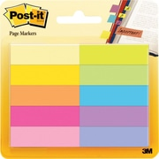 "Post-it® 1/2"" Page Markers, Assorted Bright Colors, 500 Markers/Pack (670-10AB)"