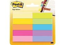 Post-it® 1/2' x 1 3/4' Ultra Colors Page Markers, 500 Flags/Pack