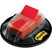 "Post-it® 1"" Red Flags with Desk Grip Dispenser, 200 Flags/Pack"