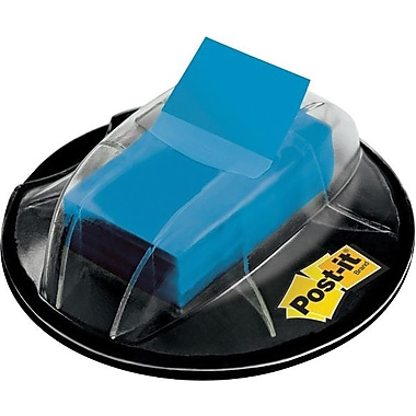 Post-it® 1in. Blue Flags with Desk Grip Dispenser, 200 Flags/Pack