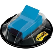 Post-it® 1 Blue Flags with Desk Grip Dispenser, 200 Flags/Pack