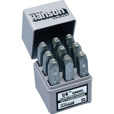 C.H. Hanson® 9 pcs Standard Solid Number Hand Stamp Set, 1/4 in