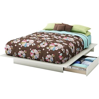 South Shore City Life Collection Full/Queen Platform Bed, White