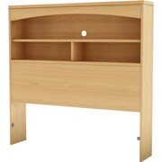 South Shore City Life Collection Twin Bookcase Headboard, Natural Maple