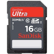 SanDisk 16GB Ultra SD (SDHC UHS-I) Card Class 10 Flash Memory Card