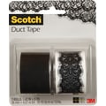 Scotch® Brand Duct Tape, Lace Vegas/ Jet Black, 2/Pack , 1.42in. x 5 Yards